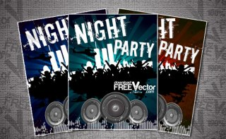 Flyer For Night Party Free Vector