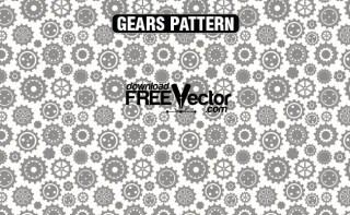 Gears Pattern Free Vector