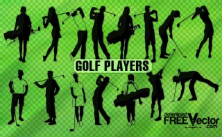 Golf Player Free Vector