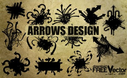 Grunge Arrows Free Vector