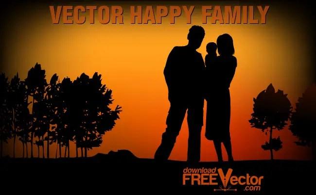 Happy Family Free Vector