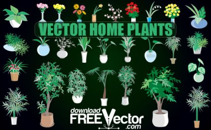 Home Plants Free Vector