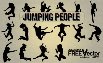 Jumping People Free Vector