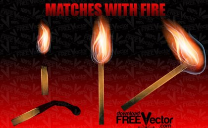 Matches With Fire Free Vector