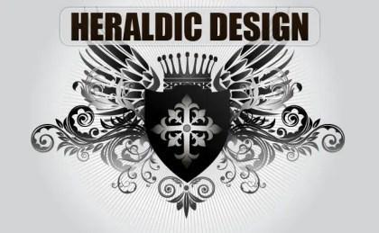 Medieval Heraldic Design Free Vector
