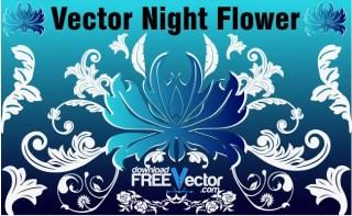 Night Flower Free Vector