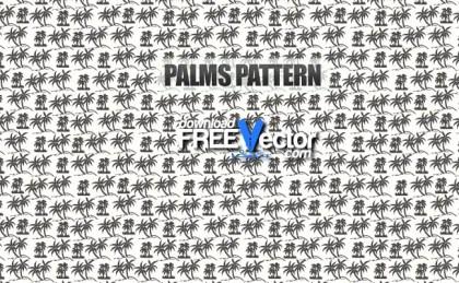 Palms Pattern Free Vector