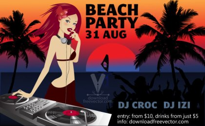 Party Flyer Template Free Vector