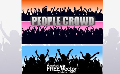 People Crowd Free Vector