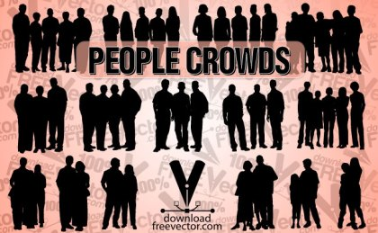 People Crowds Free Vector