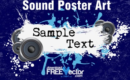 Sound Poster Art Free Vector