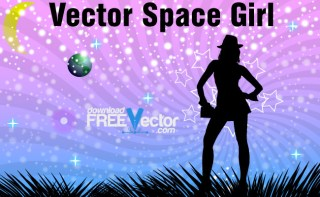 Space Girl Free Vector