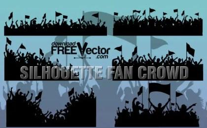 Sport Fan Crowd Free Vector