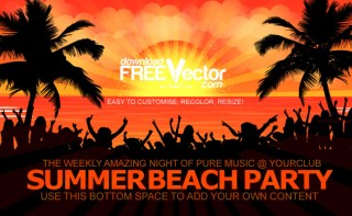 Summer Beach Party Free Vector
