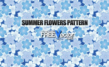 Summer Flowers Seamless Pattern Free Vector