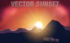 Sunset Free Vector