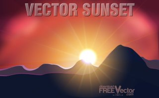Sunset Free Vector