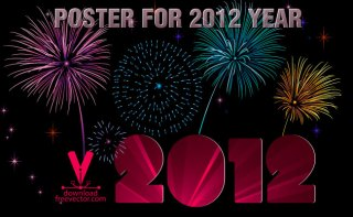 Template Poster For 2012 Free Vector