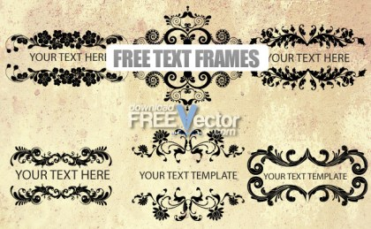 Text Frames Free Vector