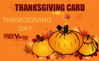 Thanksgiving Day Card Free Vector