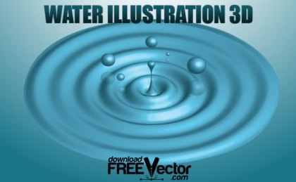 Water 3D Free Vector
