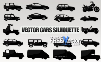 Cars Silhouette Free Vector