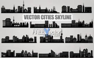 Cities Skyline Free Vector
