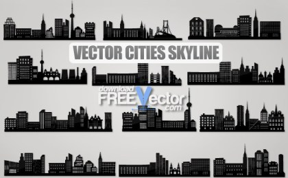 Cities Skyline Free Vector
