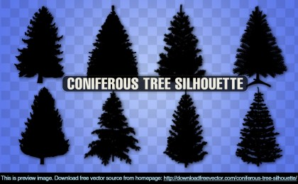 Coniferous Tree Free Vector