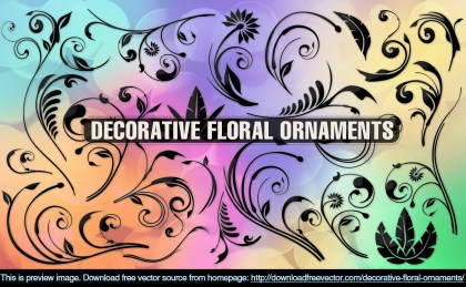 Decorative Floral Ornaments Free Vector