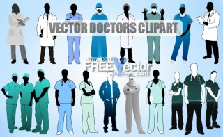 Doctors Clipart Free Vector