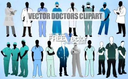 Doctors Clipart Free Vector