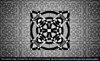 Ethnic Geometric Seamless Pattern Free Vector