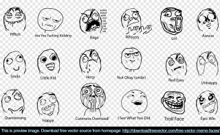 Meme Faces Free Vector