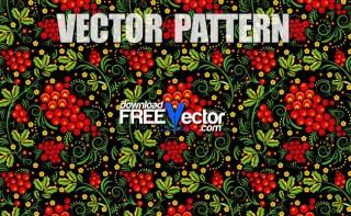 Khokhloma Pattern Free Vector