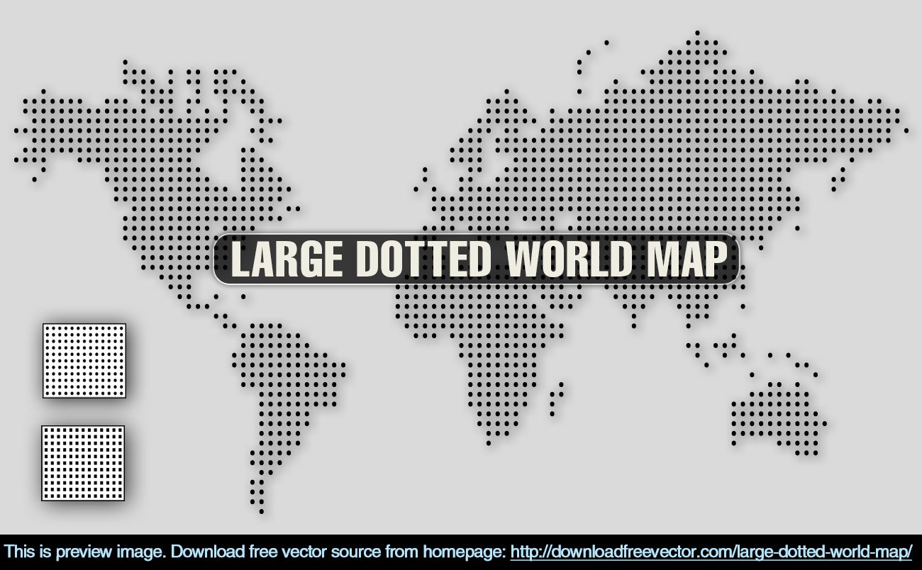 Large dotted world map free vector 123freevectors large dotted world map free vector gumiabroncs Choice Image