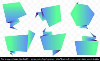 Origami Speech Bubble Free Vector