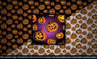 Pumpkins Seamless Pattern Free Vector