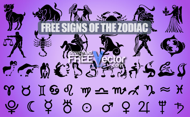 Signs Of The Zodiac Free Vector