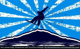 Snowboard Jump Poster Free Vector