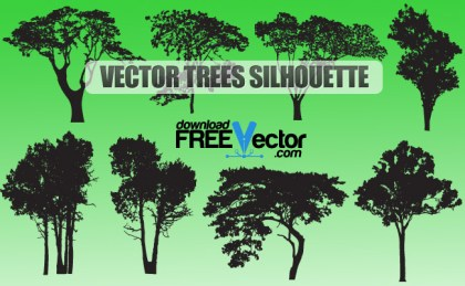 Trees Silhouette Free Vector