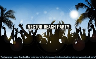 Beach Party Free Vector