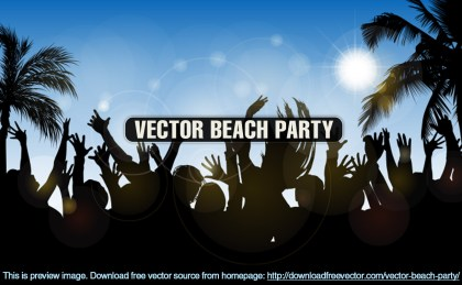 Beach Party Free Vector