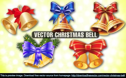 Christmas Bell Free Vector