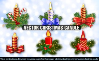Christmas Candle Free Vector