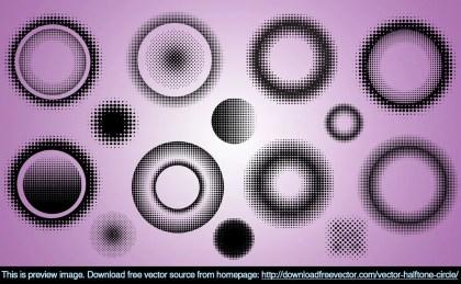 Halftone Circle Free Vector