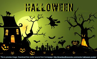 Halloween Poster Free Vector