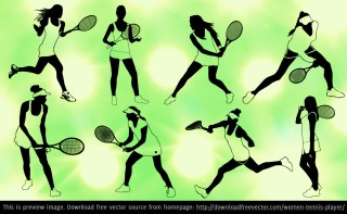 Women Tennis Player Free Vector