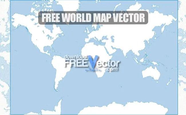 World Map Free Vector