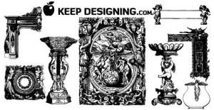 Angelic Design Ornament Free Vector